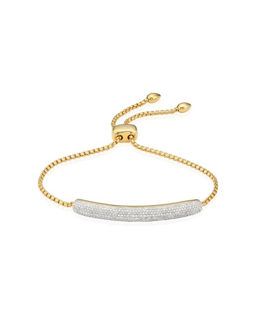 Monica Vinader | Metallic Esencia Pave Bar Bracelet | Lyst