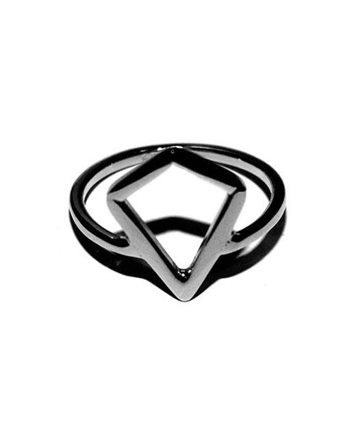 Argento Vivo | Metallic Open Kite Ring | Lyst