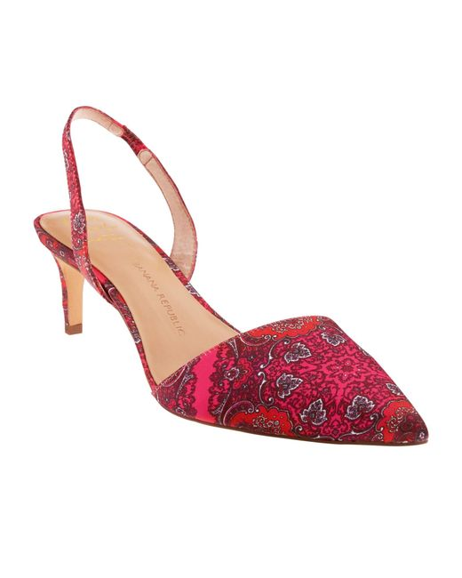 Banana Republic Hedy Slingback Pump In Red Red Multi