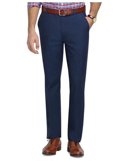 Brooks Brothers | Blue Clark Fit Supima® Cotton Poplin Pants for Men | Lyst