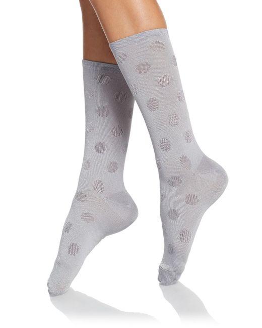Hue | Gray Luster Dot Socks Set | Lyst