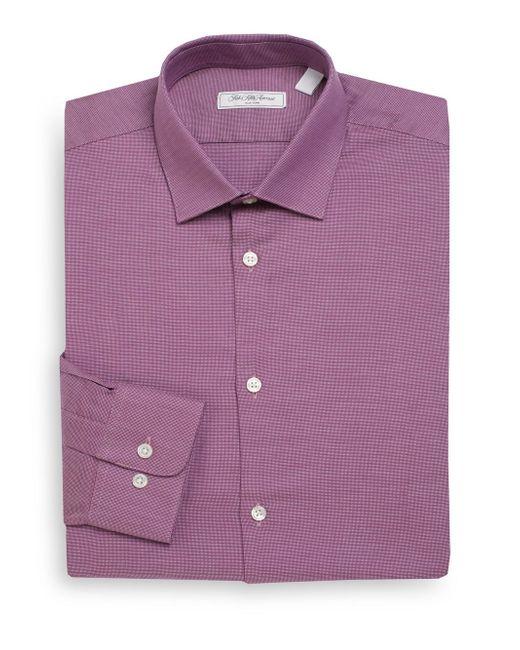 Saks Fifth Avenue | Pink Regular-fit End-on-end Cotton Dress Shirt for Men | Lyst
