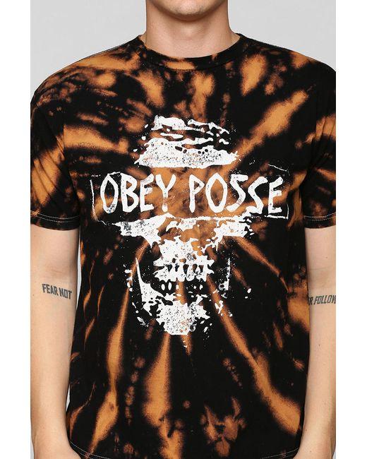 Obey | Black Posse Tiedye Tee for Men | Lyst