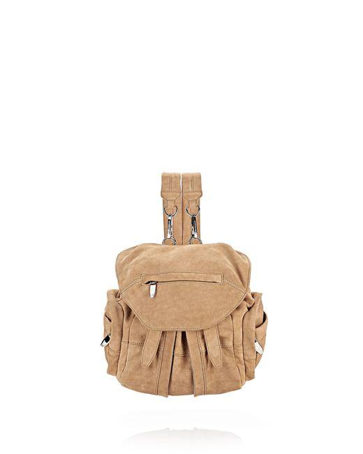 Alexander Wang | Brown 'mini Marti - Nude Nubuck' Convertible Backpack | Lyst