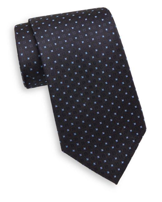 Saks Fifth Avenue | Blue Neat Cross & Square Silk Tie for Men | Lyst