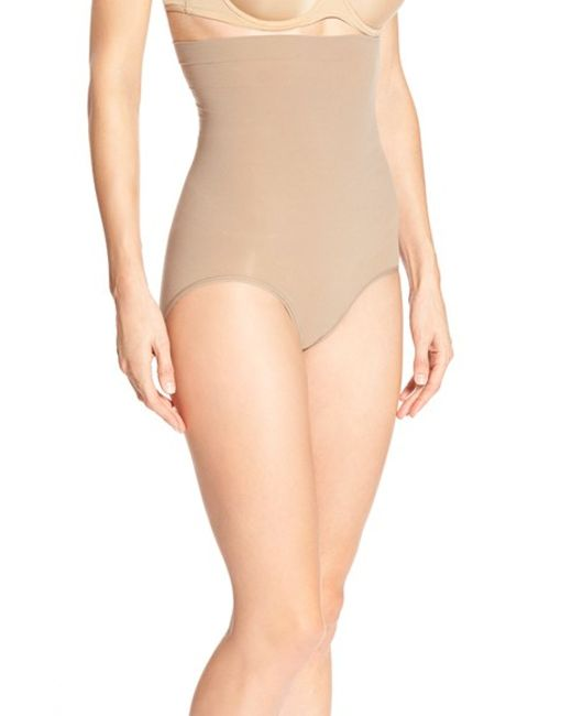 Spanx | Brown Spanx 'higher Power' High Waist Shaping Briefs | Lyst
