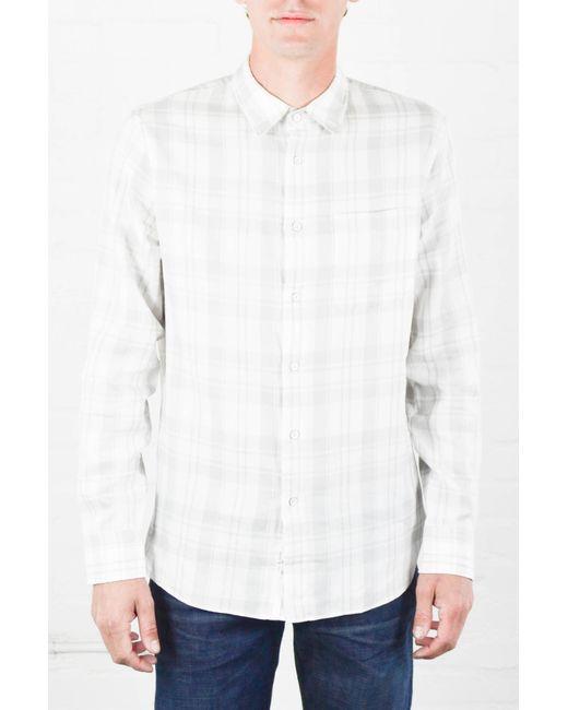 Rag bone white and grey beach shirt in white for men for Rag and bone white t shirt