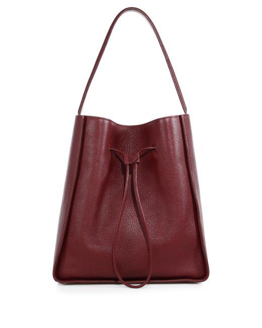 3.1 Phillip Lim | Purple Soleil Large Leather Drawstring Bucket Bag | Lyst