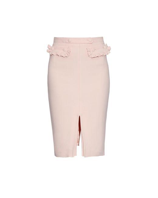 altuzarra pink graham ruffle front pencil skirt lyst