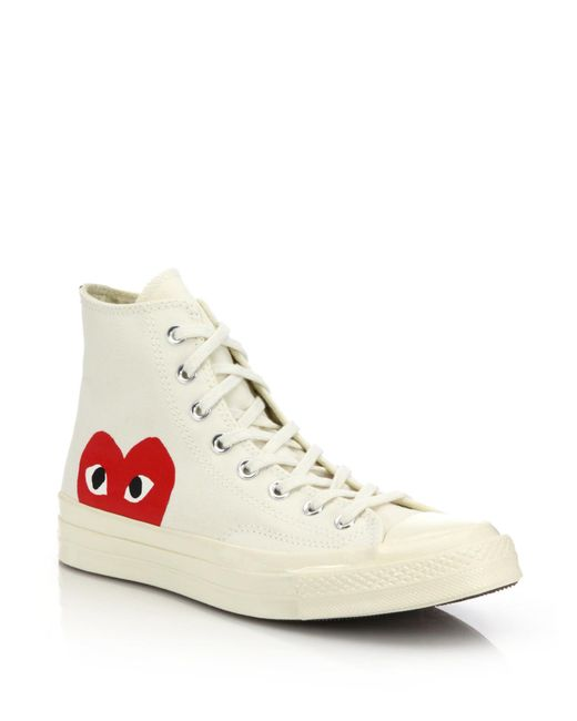 Comme des Garçons   Natural Play Chuck Taylor Canvas High-Top Sneakers   Lyst