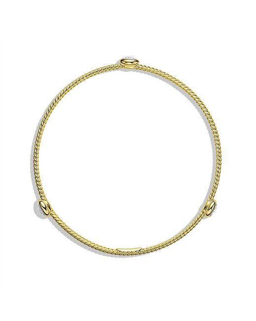 David Yurman | Metallic Chatelaine Bracelet With Peridot And Diamonds In 18k Gold | Lyst