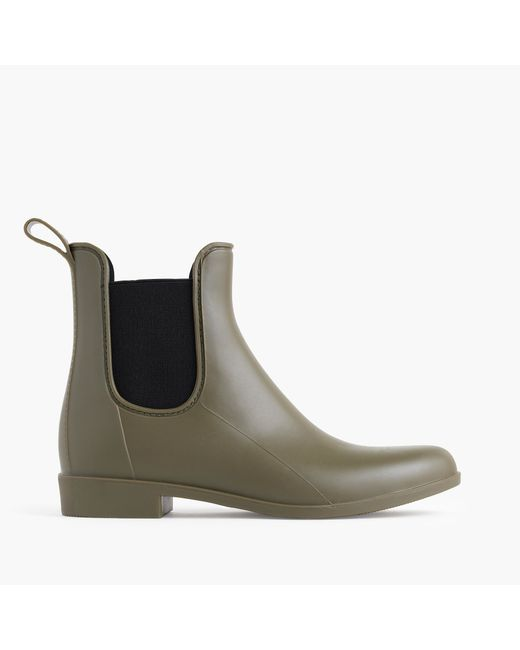 J.Crew | Green Matte Chelsea Rain Boots | Lyst