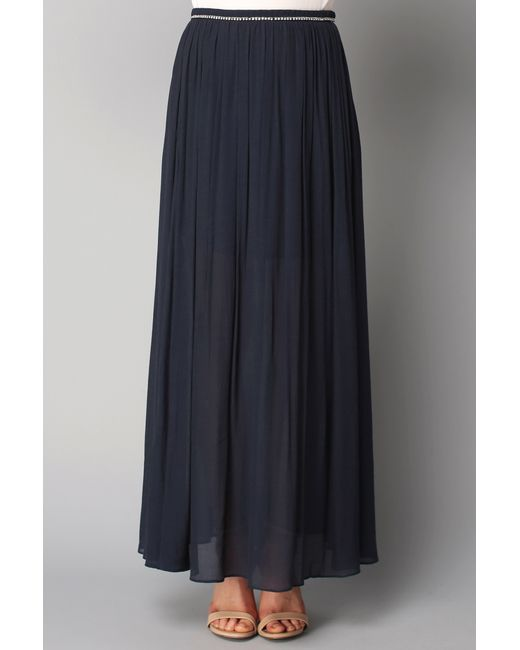 suncoo midi skirt maxi skirt in blue lyst