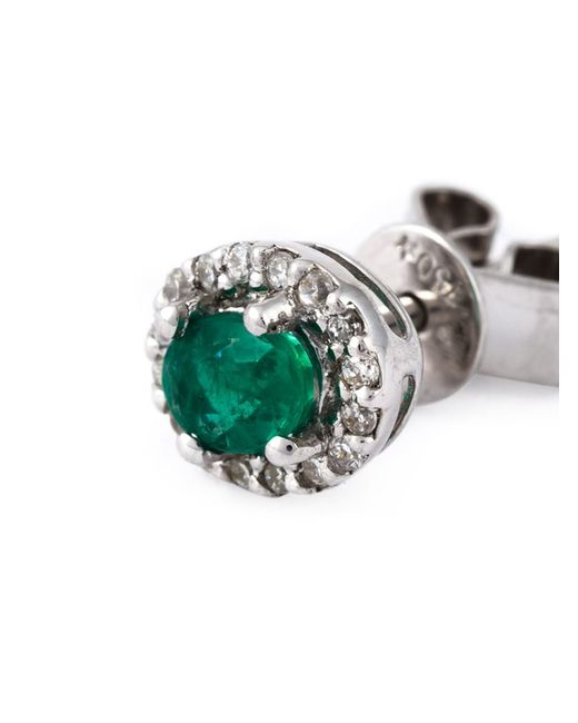 Wouters & Hendrix | Green Emerald Stud Earring | Lyst