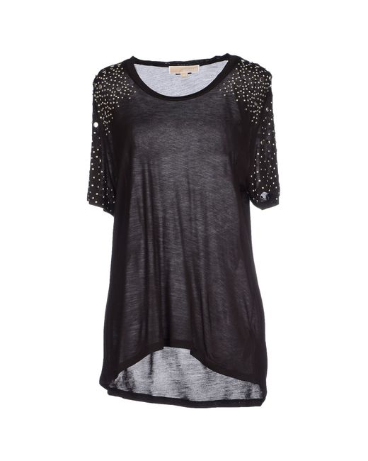 michael michael kors t shirt in black save 31 lyst. Black Bedroom Furniture Sets. Home Design Ideas