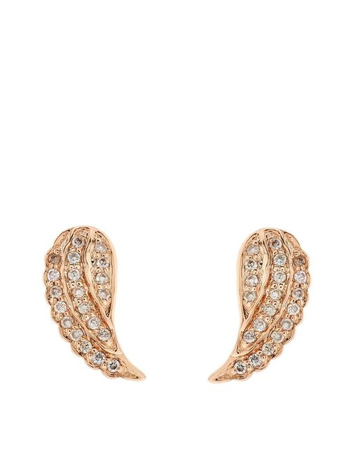 Sydney Evan | Metallic Diamond Mini Wing Stud Earring | Lyst