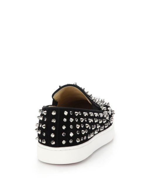 christian louboutin roller flat skate shoe with spikes in