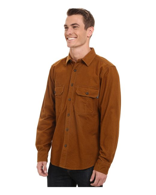 Woolrich | Brown Expedition Chamois Shirt for Men | Lyst