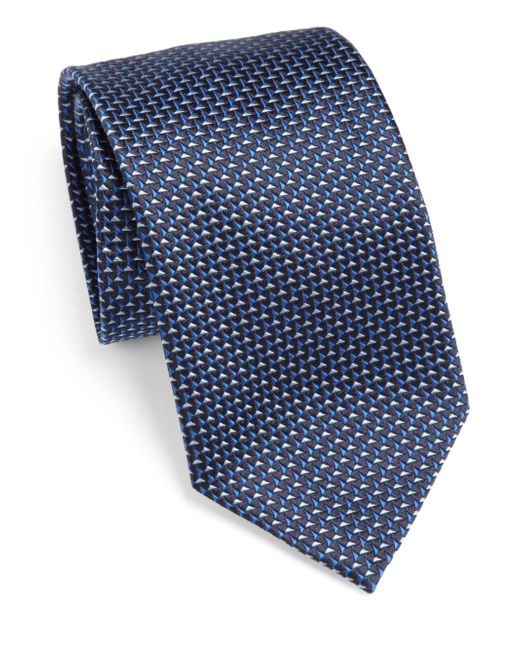 Armani | Blue Jacquard Classic Tie for Men | Lyst