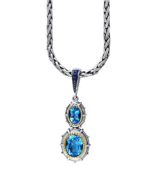 Effy   Ocean Blue Sterling Silver Pendant Necklace   Lyst