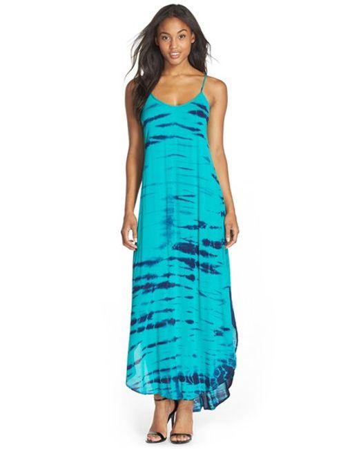Fraiche By J   Blue Tie-Dye A-Line Maxi Dress   Lyst