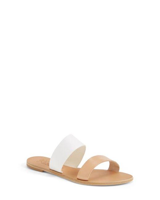 Joie | Natural A La Plage 'sable' Leather Slip-on Sandal | Lyst