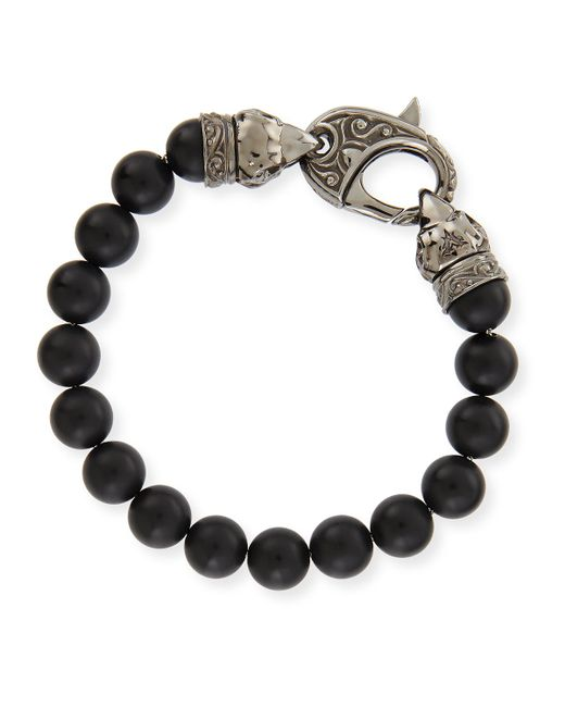 Stephen Webster | Black Matte Beaded Bracelet for Men | Lyst