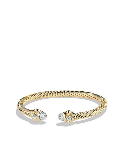 David Yurman | Metallic Renaissance Bracelet With Diamonds In 18k Gold, 5mm | Lyst