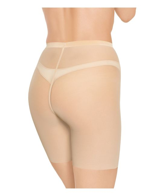 Wolford | Natural Tulle Control Shorts | Lyst