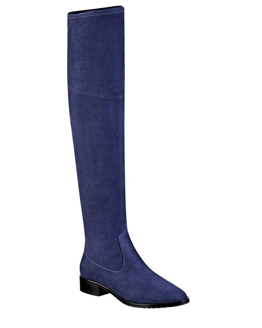 Ivanka Trump | Blue Livi Over-the-knee Faux Suede Boots | Lyst