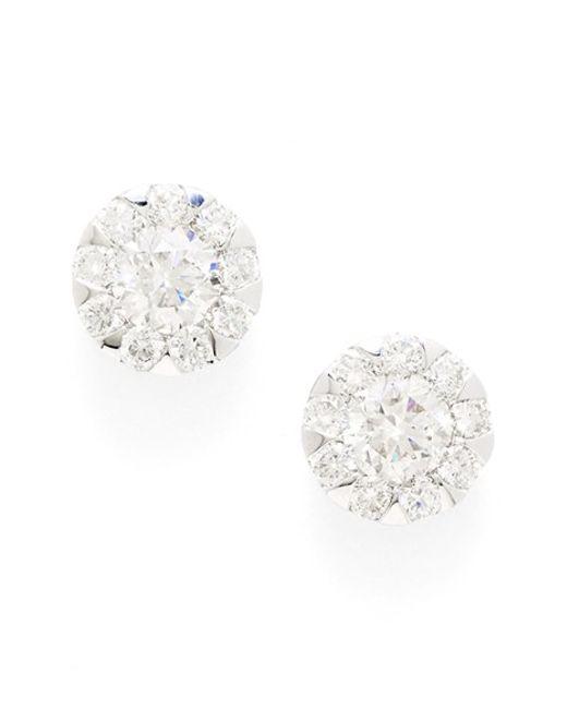 Kwiat   Multicolor 'sunburst' Diamond Stud Earrings   Lyst