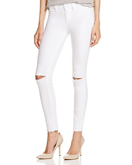 Paige Denim White Skinny Jeans