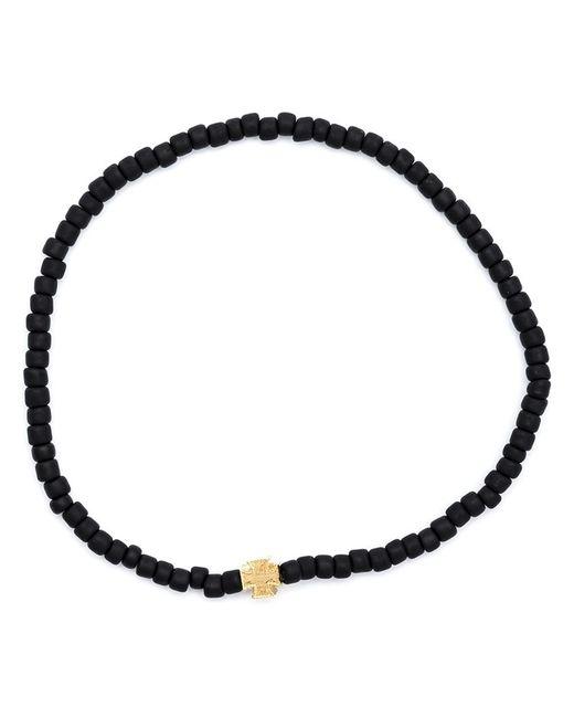 Luis Morais | Black Maltese Cross Beaded Bracelet | Lyst