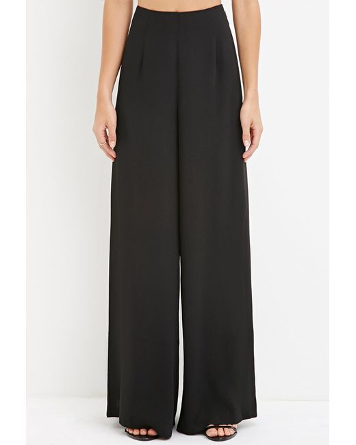 Forever 21 | Black Contemporary Classic Wide-leg Trousers | Lyst