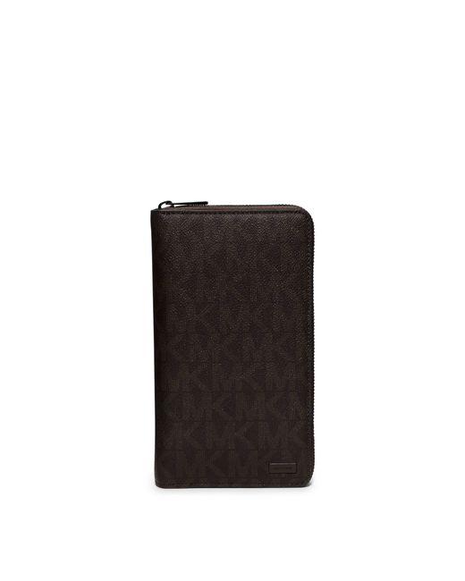 Michael Kors | Brown Jet Set Logo Zip-around Travel Wallet for Men | Lyst