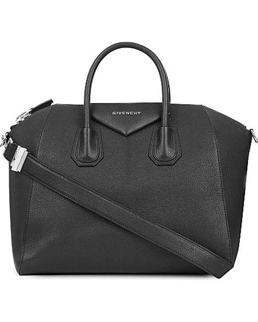 Givenchy | Black Antigona Sugar Medium Soft-grained Leather Tote | Lyst