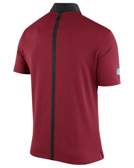 Nike Men 39 S Arizona Cardinals Elite Coaches Polo In Red For