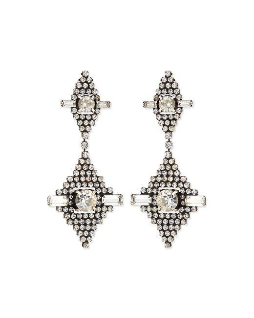 DANNIJO   Metallic Faith Crystal Drop Earrings   Lyst