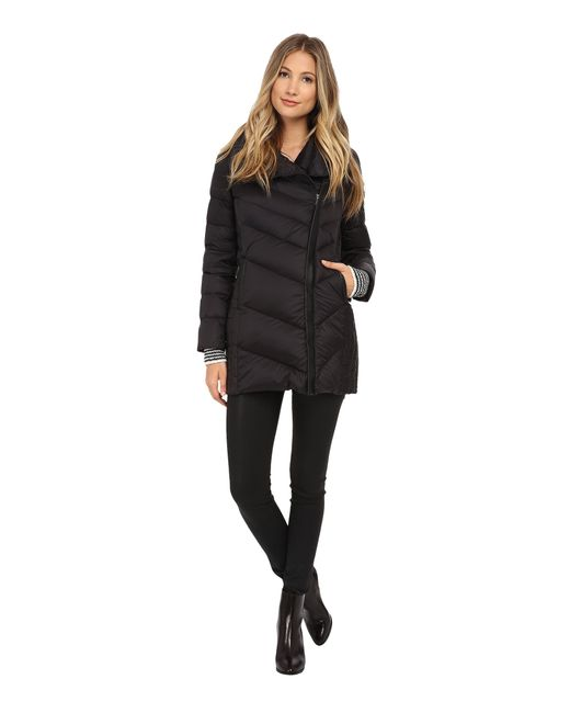 Sam Edelman | Black Pryce Asymmetrical High Denist Down Jacket | Lyst