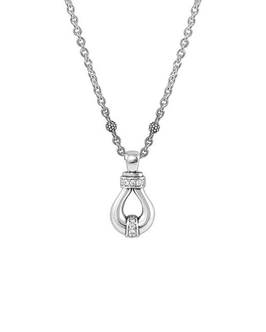 Lagos | Metallic 'derby' Diamond Pendant Necklace | Lyst