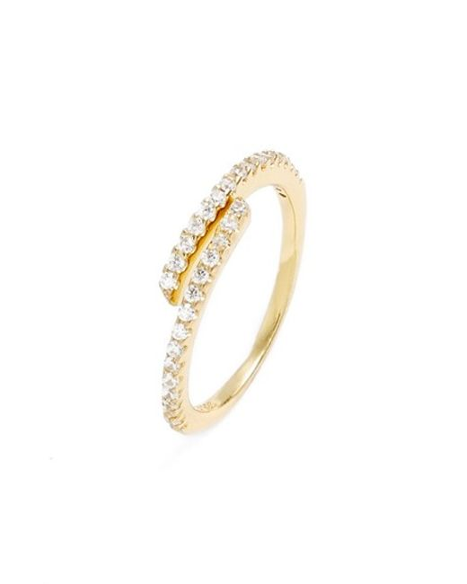 Argento Vivo | Metallic Cubic Zirconia Coil Ring | Lyst