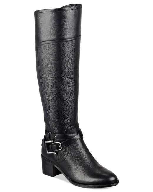 Marc Fisher   Black Kacee Tall Riding Boots   Lyst