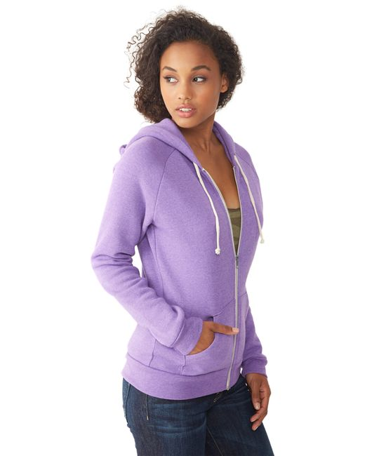 Alternative Apparel | Purple Adrian Eco-fleece Zip Hoodie | Lyst