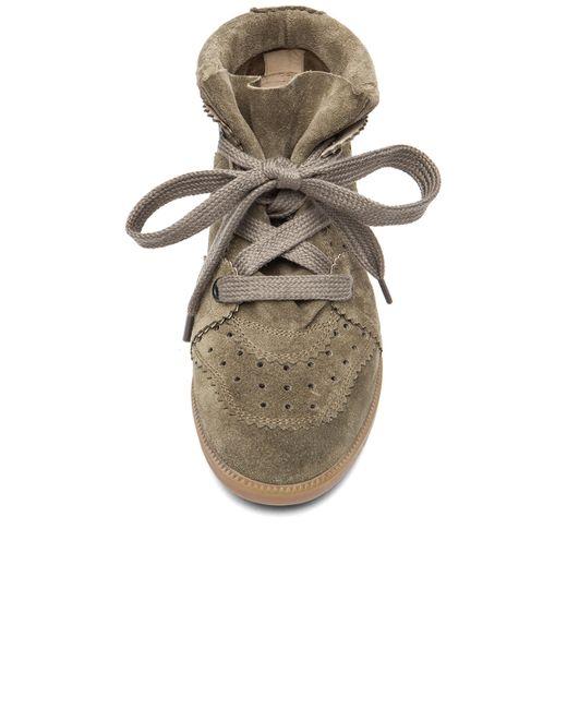 Étoile Isabel Marant   Brown Bobby Suede Wedge Sneakers   Lyst