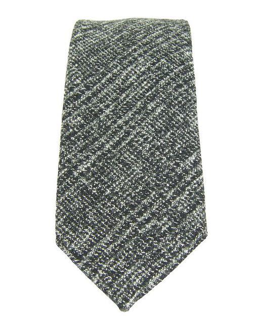 dibi grey glen plaid tie in gray for grey lyst