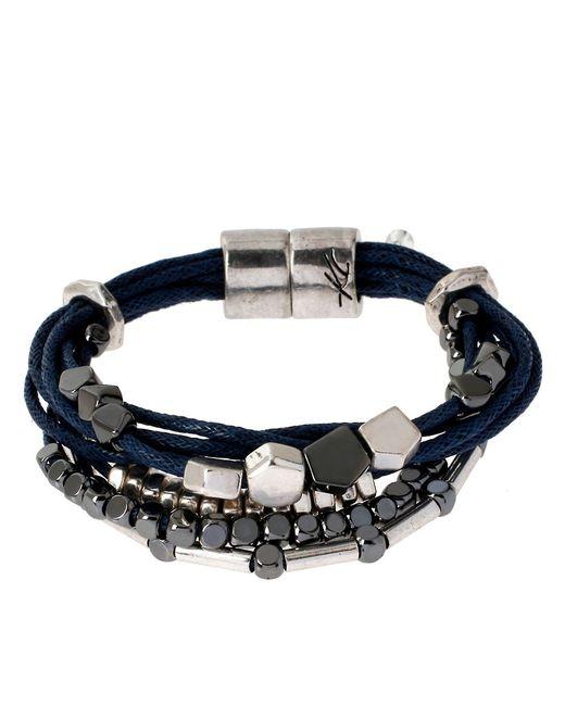 Kenneth Cole | Black Multi-strand Beaded Bracelet | Lyst