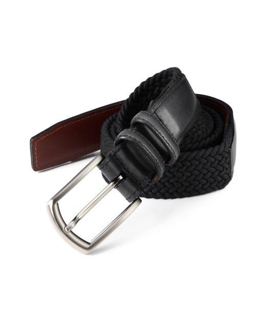 Saks Fifth Avenue   Black Braided Belt for Men   Lyst