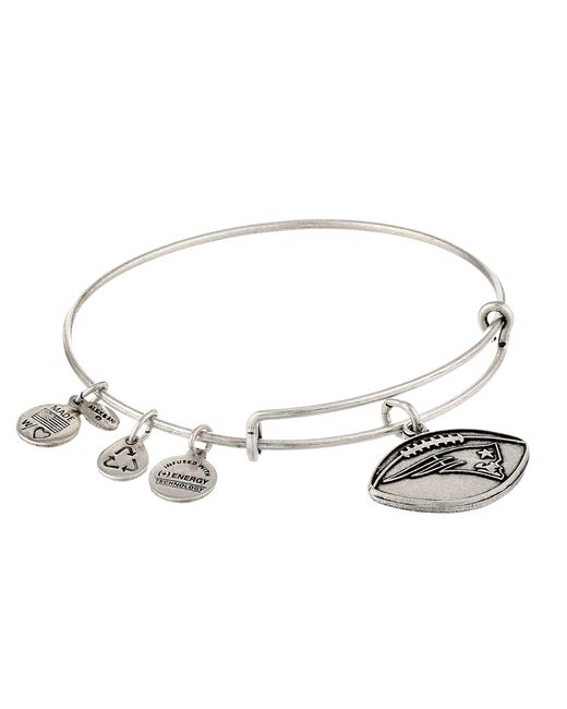 ALEX AND ANI | Metallic New England Patriots Football Charm Bangle | Lyst