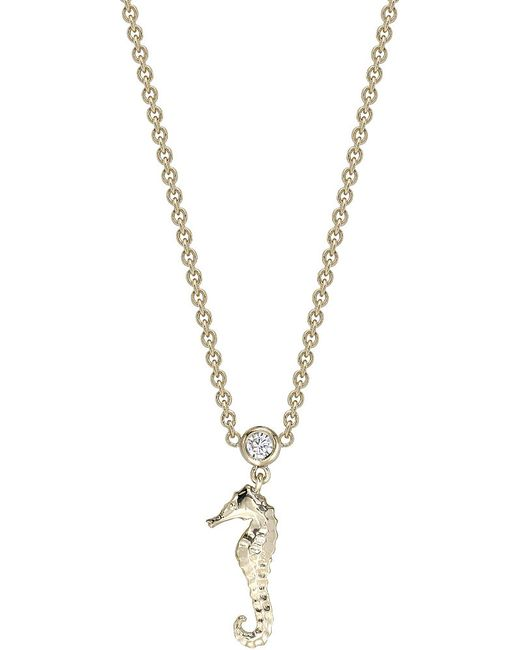 Theo Fennell | Metallic 18ct Gold And Diamond Seahorse Necklace | Lyst
