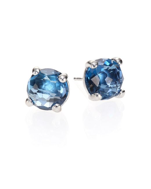Ippolita | Metallic Rock Candy London Blue Topaz & Sterling Silver Stud Earrings | Lyst